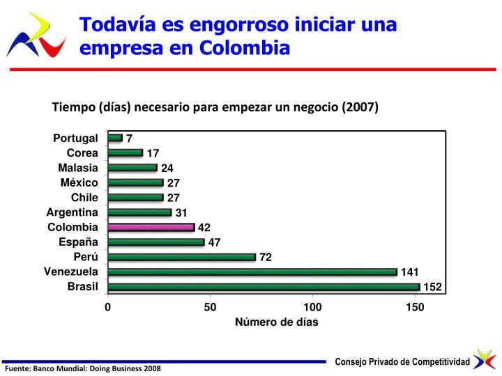 Todavía es engorroso iniciar una empresa en Colombia