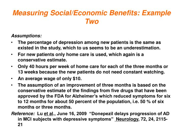 Measuring Social/Economic Benefits: Example Two