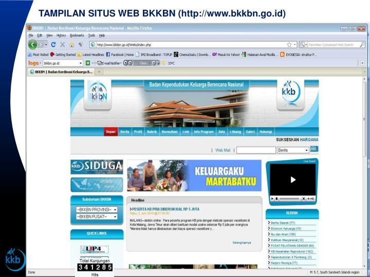 TAMPILAN SITUS WEB BKKBN (http://www.bkkbn.go.id)