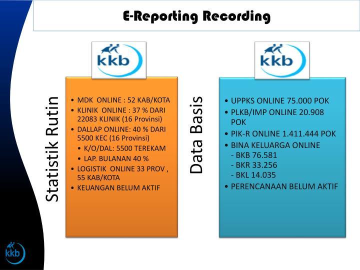 E-Reporting Recording