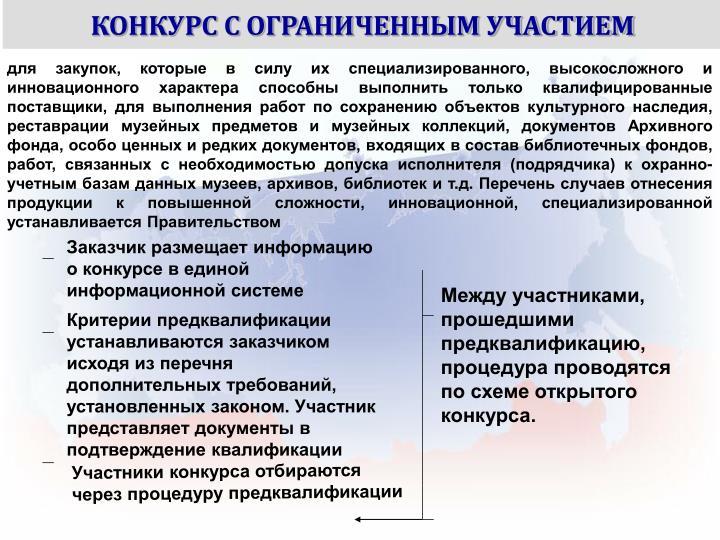 КОНКУРС С ОГРАНИЧЕННЫМ УЧАСТИЕМ