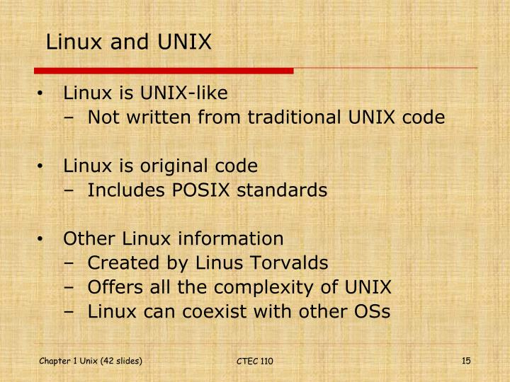 Linux and UNIX