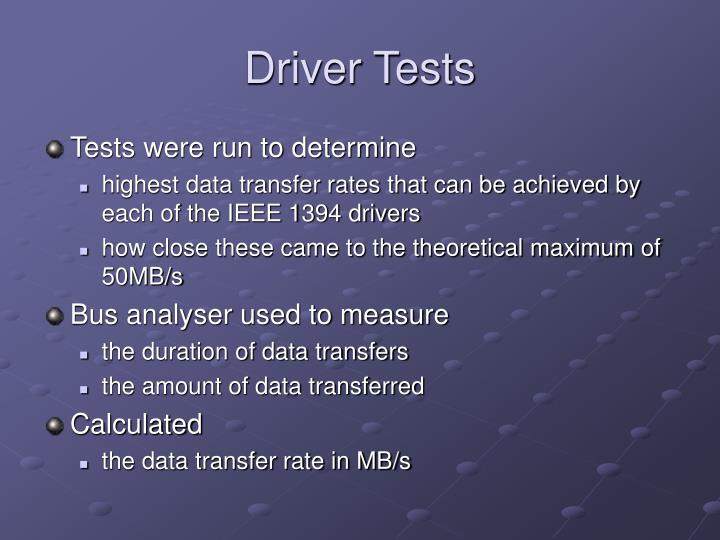 Driver Tests