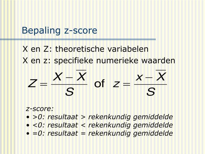 Bepaling z-score