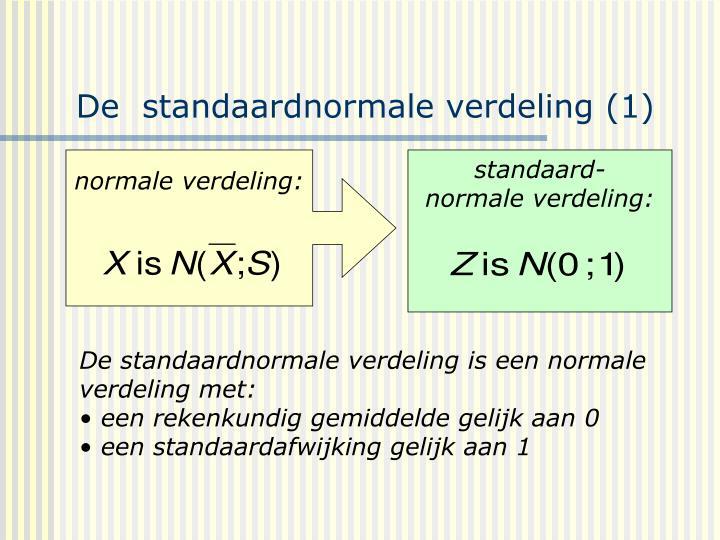 De  standaardnormale verdeling (1)