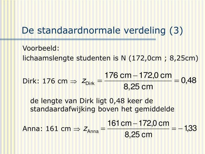 De standaardnormale verdeling (3)