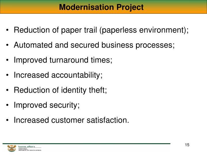 Modernisation Project