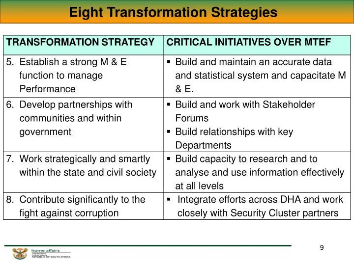 Eight Transformation Strategies