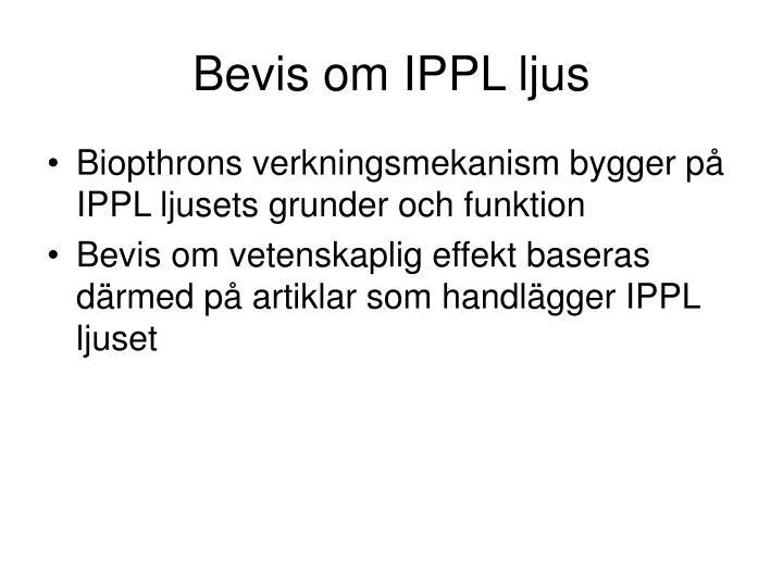 Bevis om IPPL ljus