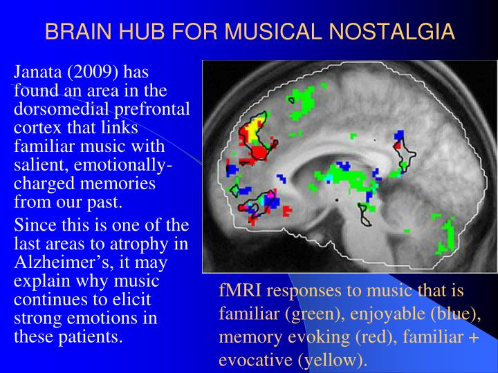 BRAIN HUB FOR MUSICAL NOSTALGIA