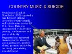 country music suicide