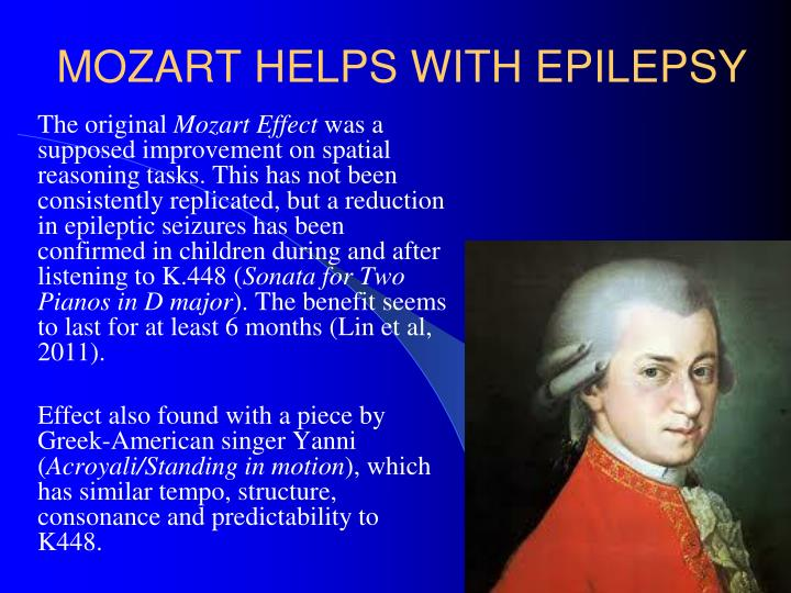 MOZART HELPS WITH EPILEPSY