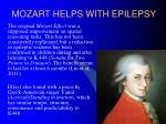 mozart helps with epilepsy