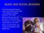 music and social bonding