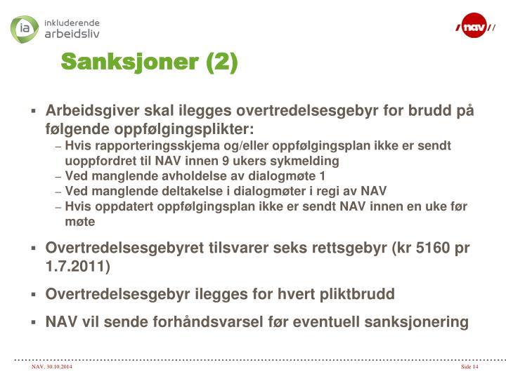 Sanksjoner (2)