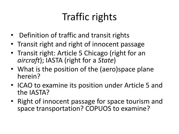 Traffic rights