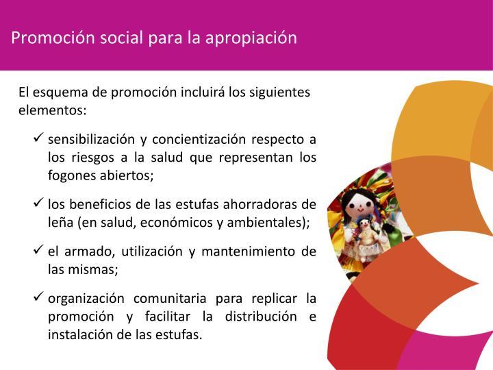 Promoción social para la apropiación