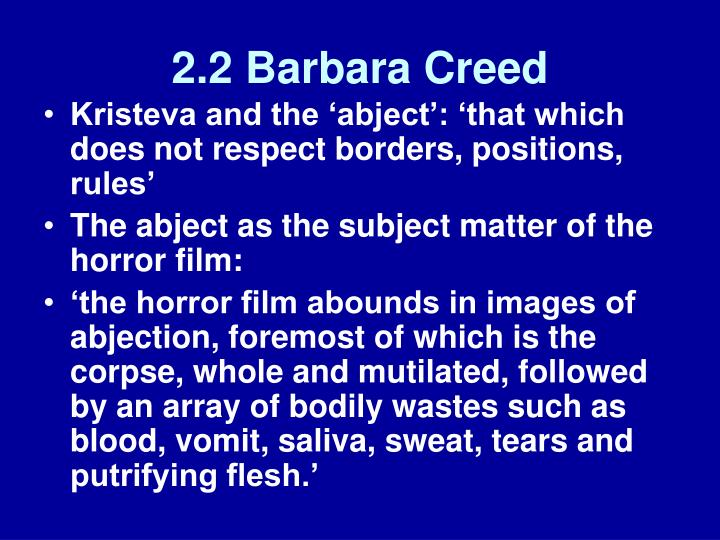 2.2 Barbara Creed