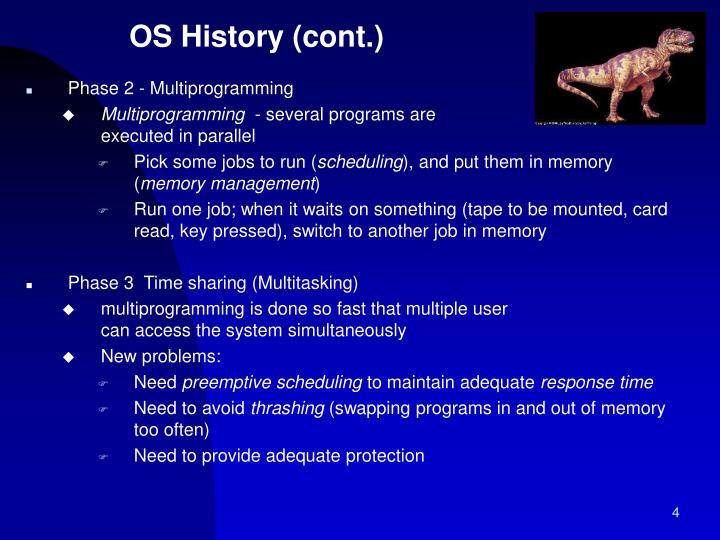 OS History (cont.)