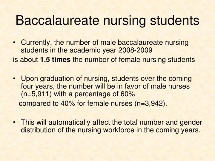 Baccalaureate nursing students