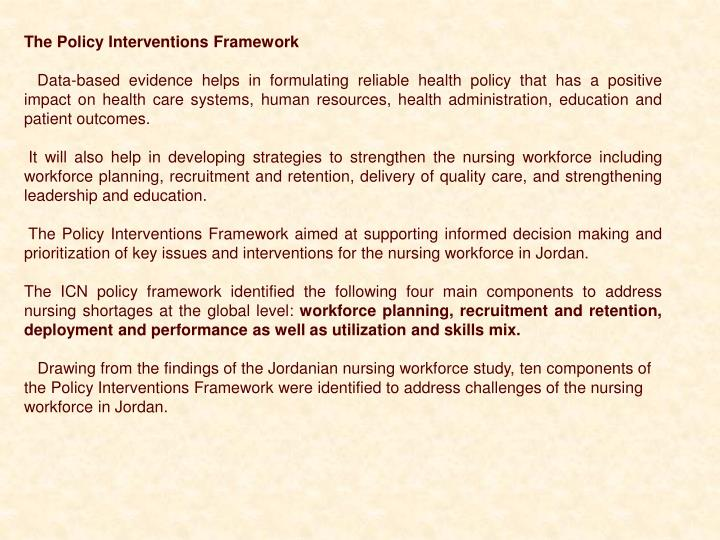 The Policy Interventions Framework