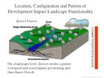 location configuration and pattern of development impact landscape functionality