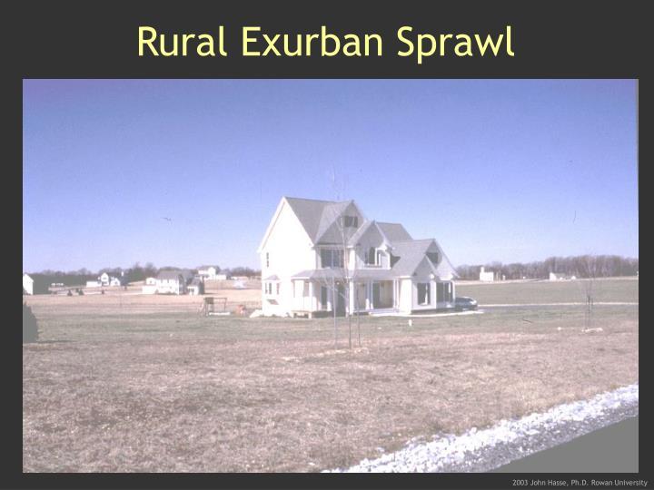 Rural Exurban Sprawl
