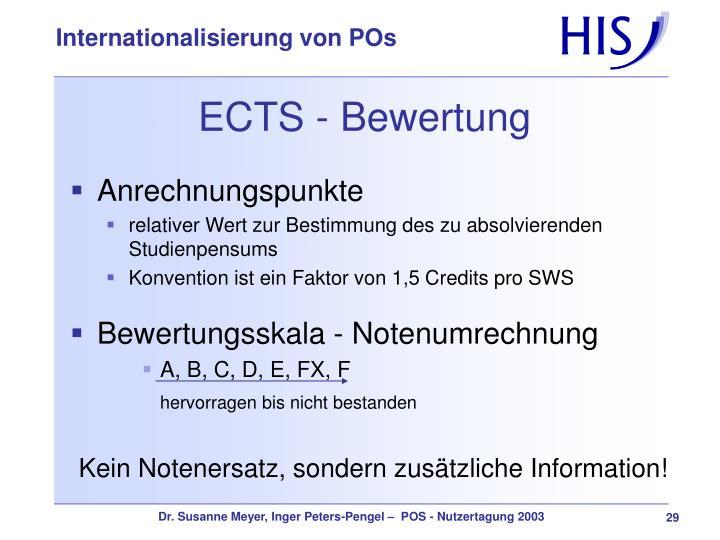 ECTS - Bewertung