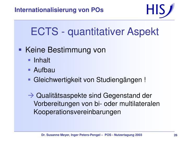 ECTS - quantitativer Aspekt