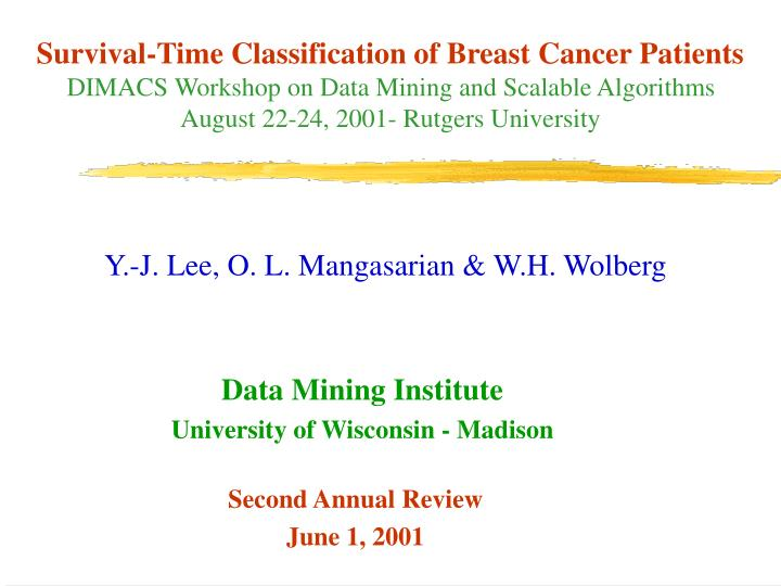 Survival-Time Classification of Breast Cancer Patients