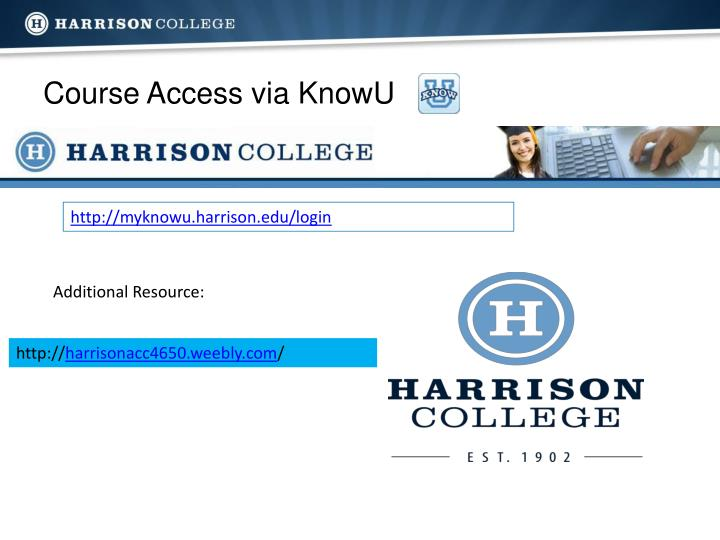 Course access via knowu