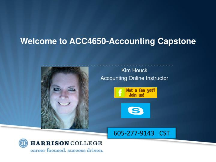 Welcome to acc4650 accounting capstone