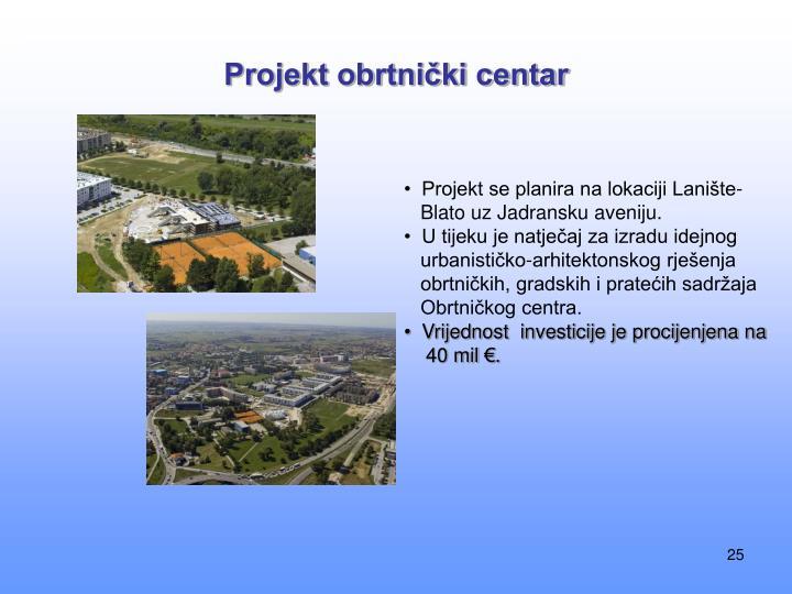 Projekt obrtnički centar