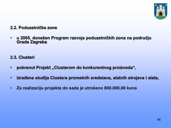 2.2. Poduzetničke zone