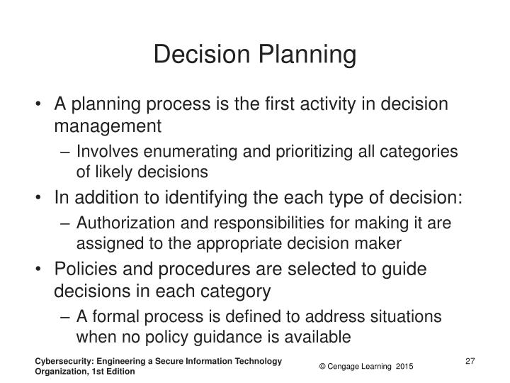 Decision Planning