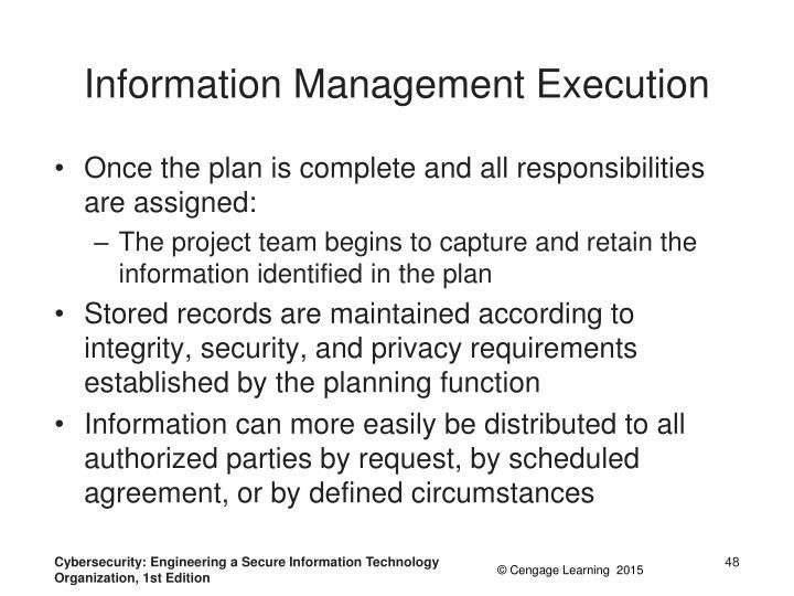 Information Management Execution