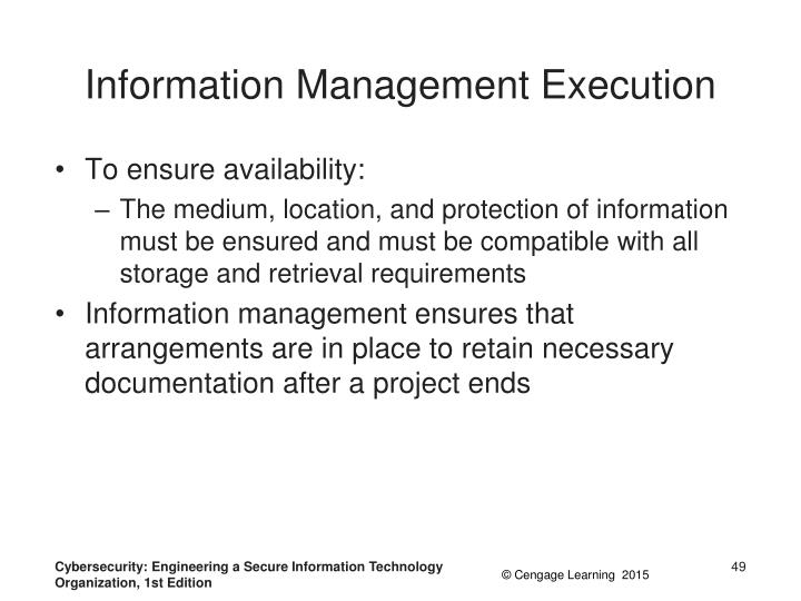 Information Management Execution