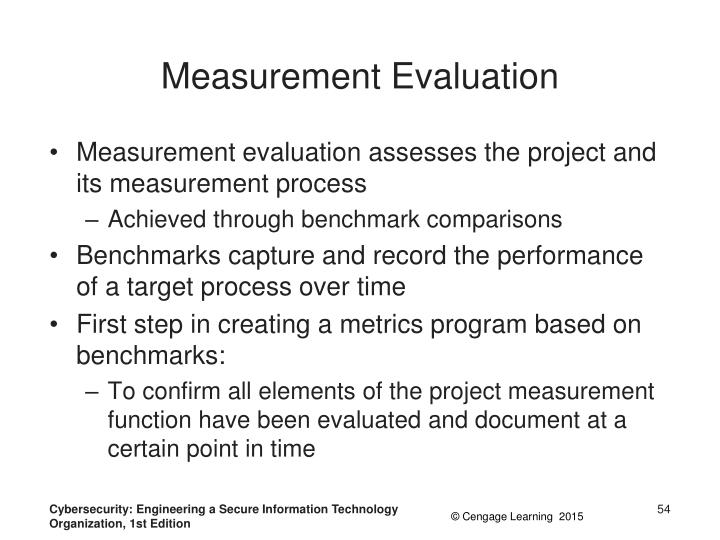 Measurement Evaluation