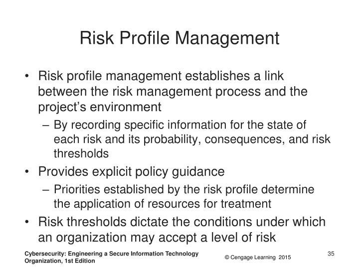 Risk Profile Management
