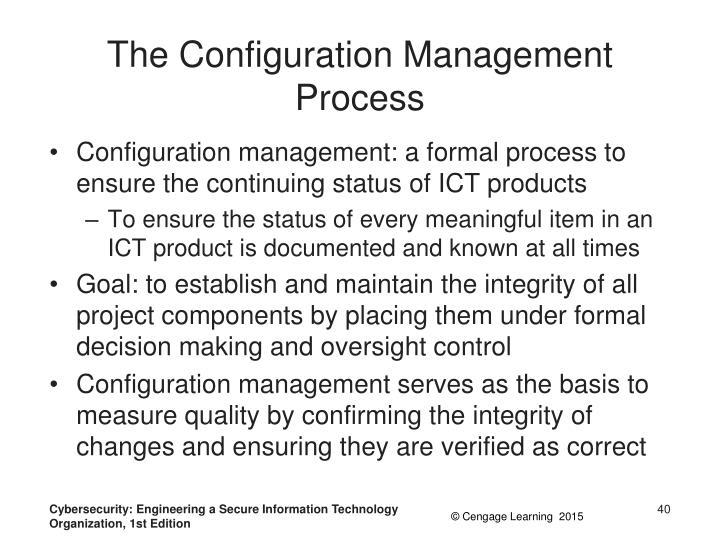 The Configuration Management Process