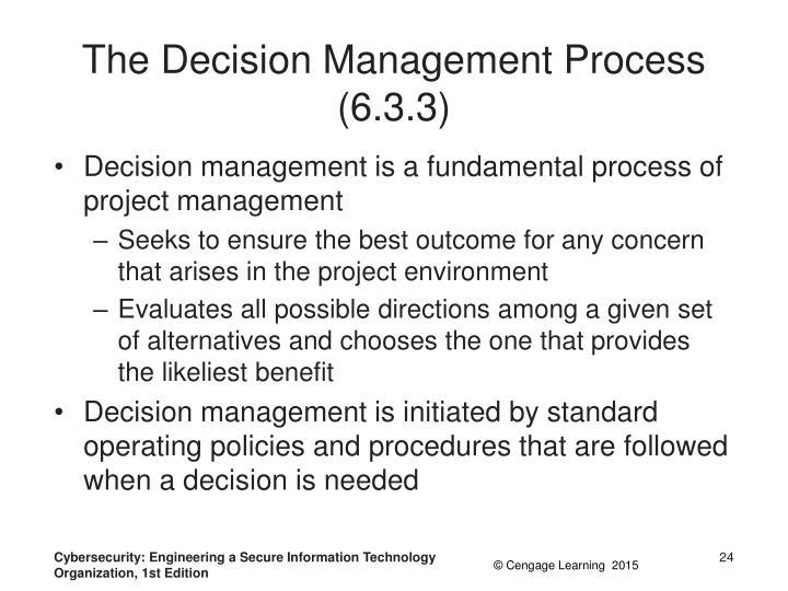 The Decision Management Process (6.3.3)