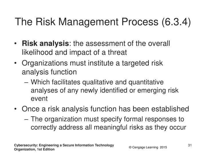The Risk Management Process (6.3.4)