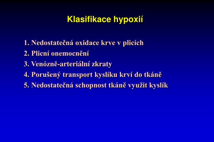 Klasifikace hypoxií