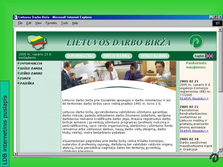 LDB internetinis puslapis