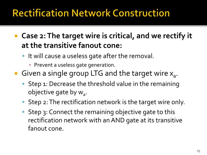 Rectification Network Construction
