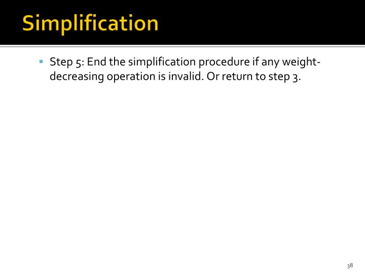 Simplification