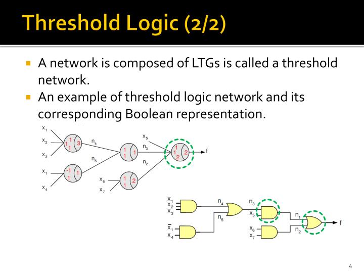 Threshold Logic (2/2)