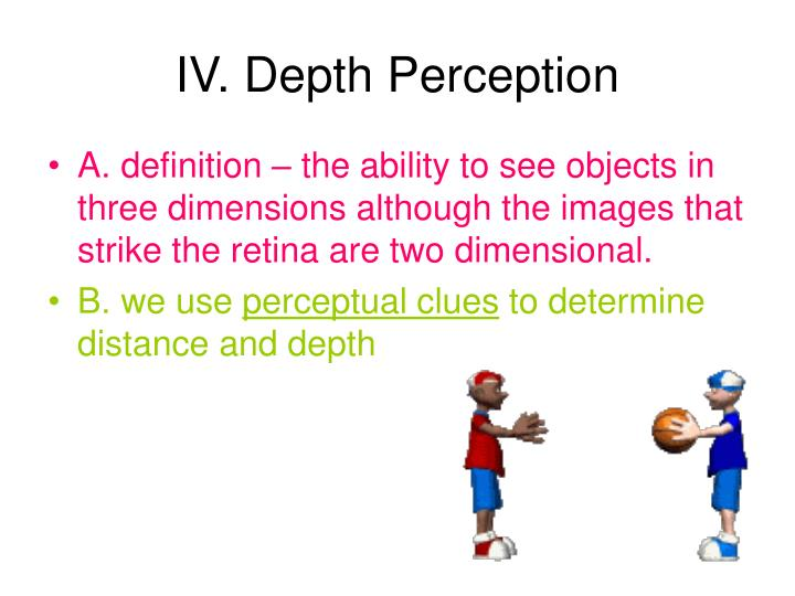 IV. Depth Perception