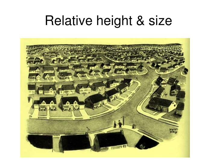 Relative height & size