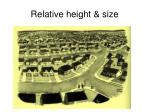 relative height size